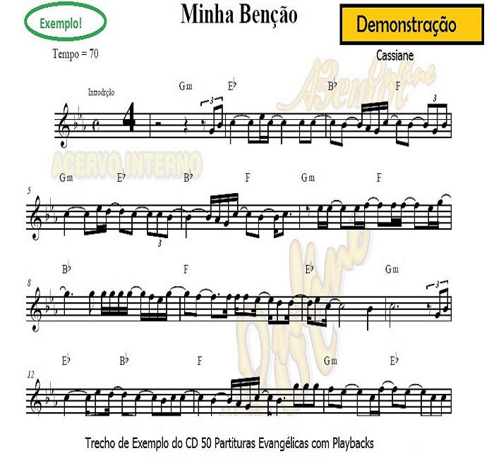 Trompete Partituras Evangélicas com Playbacks Gospel 50 Músicas (Volume 1) | Cinquenta partituras para clarineta gospel com playback ou trompete gospel com playback evangelico e gospel
