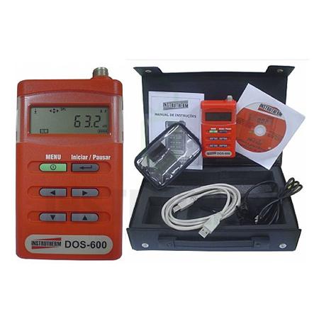 DOS-600 Dosímetro de Ruído Digital Portátil com certificado de calibração   - Instrubras Instrumentos de Medição