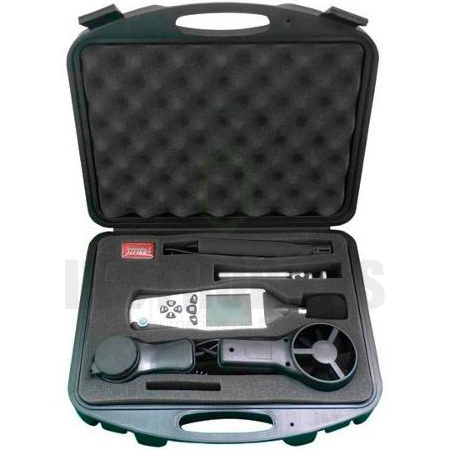 KR-500 - Termo-Higro-Decibelimetro-Luxímetro-Anemômetro 5X1 Digital Portátil - Com Certificado de Calibração  - Instrubras Instrumentos de Medição