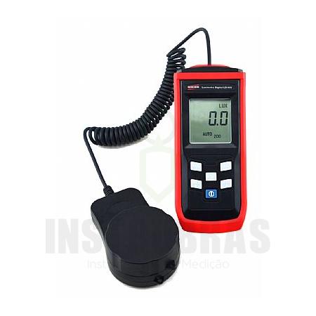 LD-400 Luxímetro digital com Alcance de medição 200000 Lux com certificado de calibração