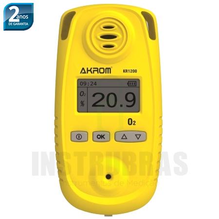 KR1210 Detector de Oxigênio digital portátil (O2) com certificado de calibração