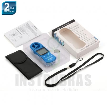 KR825 Termo-higro-anemômetro digital 3X1  - Instrubras Instrumentos de Medição