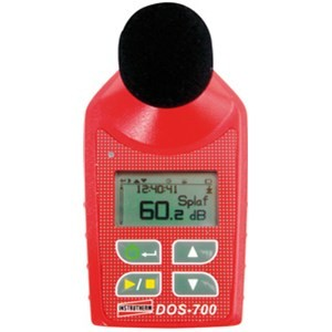 DOS-700 Dosímetro de Ruído sem fio com certificado de calibração