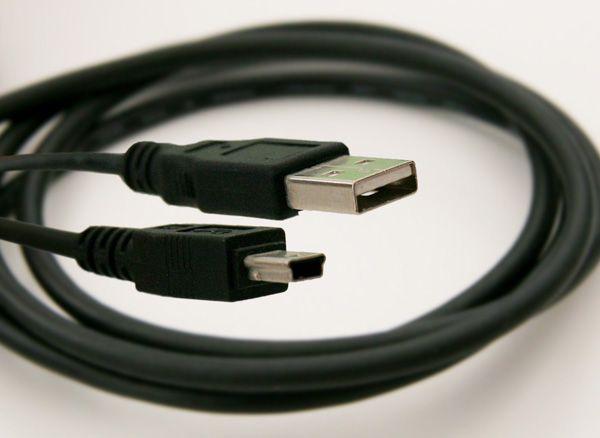 Cabo de comunicação mini USB