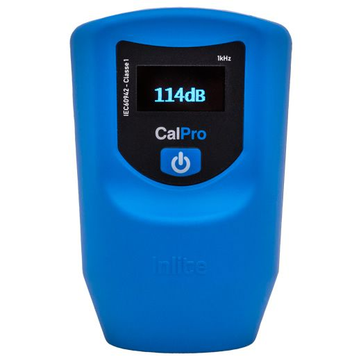 CalPro Calibrador de ruído digital com Certificado de Calibração   - Instrubras Instrumentos de Medição