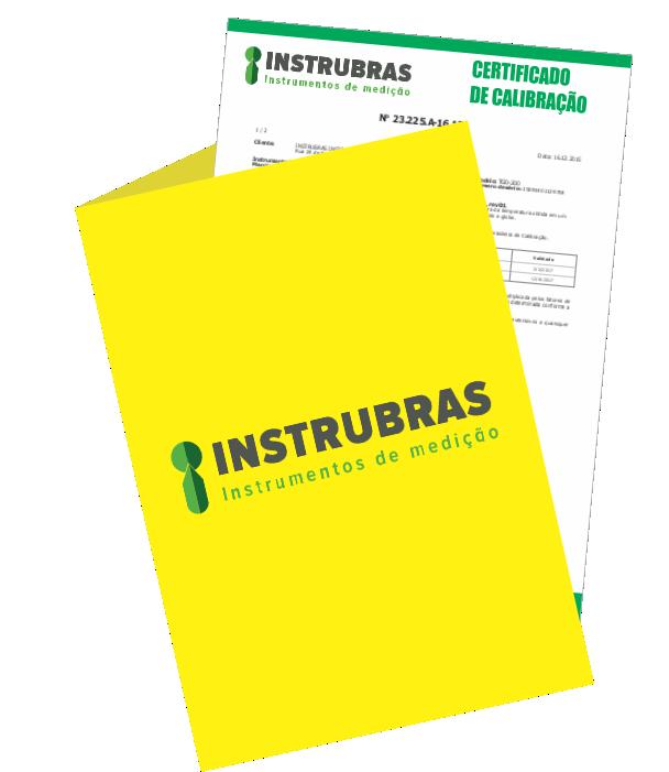 Certificado de calibração para termo anemômetros  - Instrubras Instrumentos de Medição