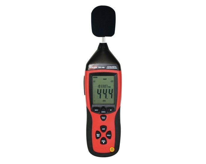 DEC-490 Medidor de nível sonoro com datalogger e USB(Decibelímetro) com certificado de calibração