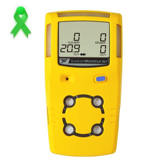 Detector de 4 gases  GasAlert Microclip XL BW (Espaço Confinado) - Com Certificado de Calibração