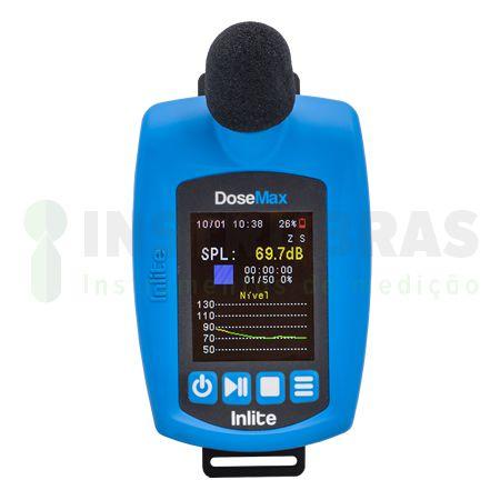 DoseMax Dosímetro de ruído digital com filtro de 1/1 e 1/3 de oitavas com certificado de calibração