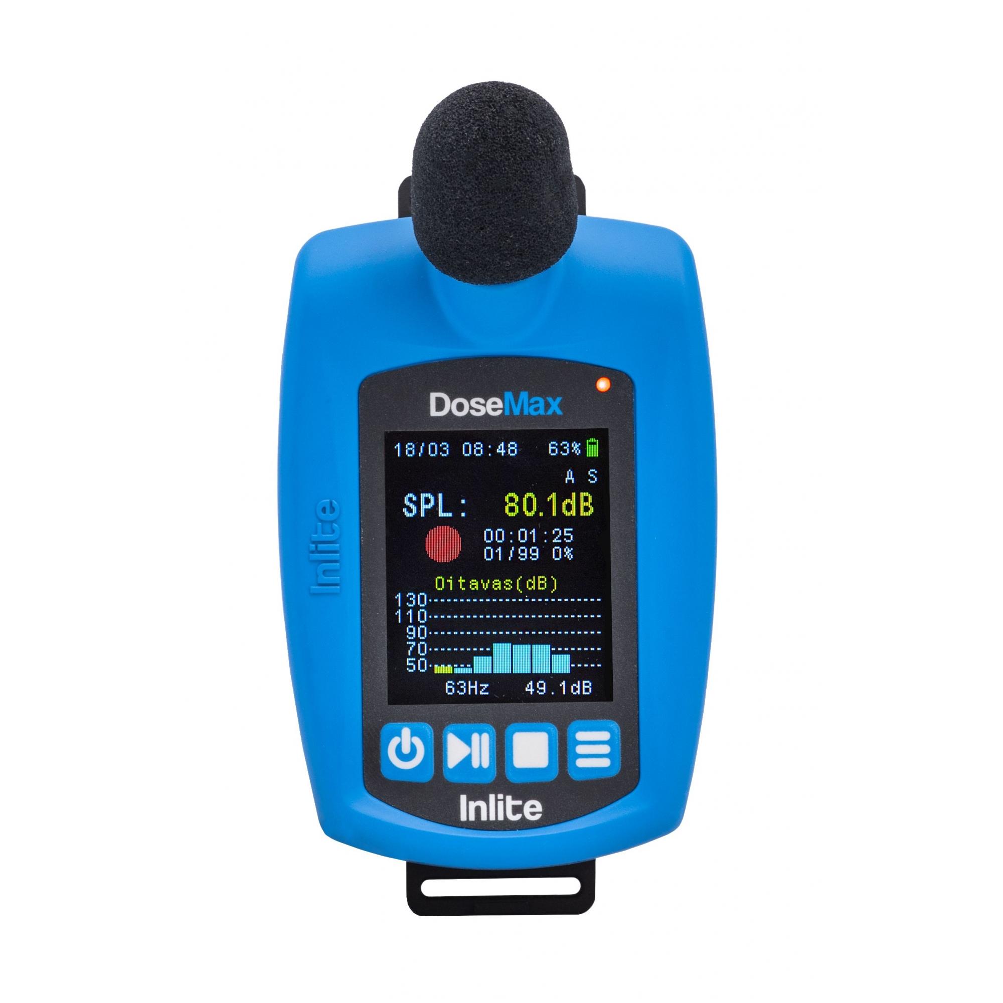 DoseMax Dosímetro de ruído digital com filtro de bandas de oitava e certificado de calibração