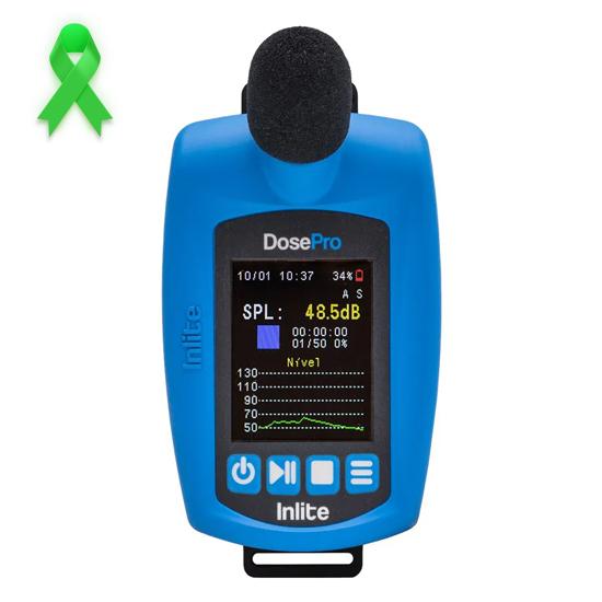 DosePro Dosímetro de ruído digital com certificado de calibração