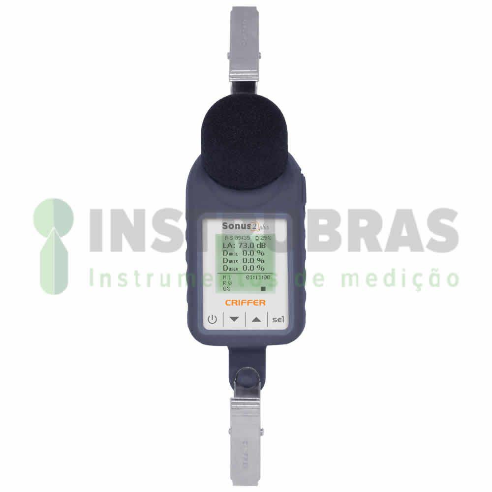 Dosímetro de Ruído Sonus-2 Plus com filtro de 1/1 e 1/3 de oitavas - Com certificado de calibração