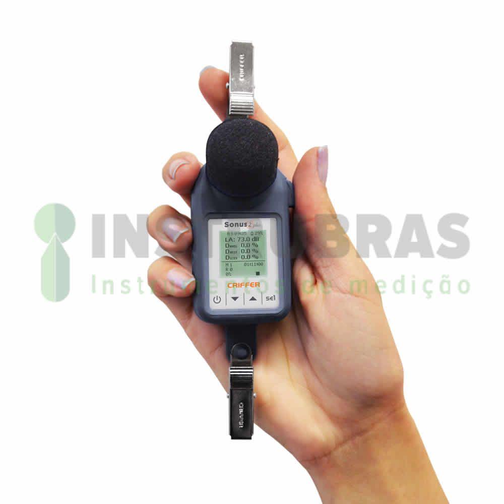 Dosímetro de Ruído Sonus-2 Plus com filtro de 1/1 e 1/3 de oitavas - Com certificado de calibração  - Instrubras Instrumentos de Medição