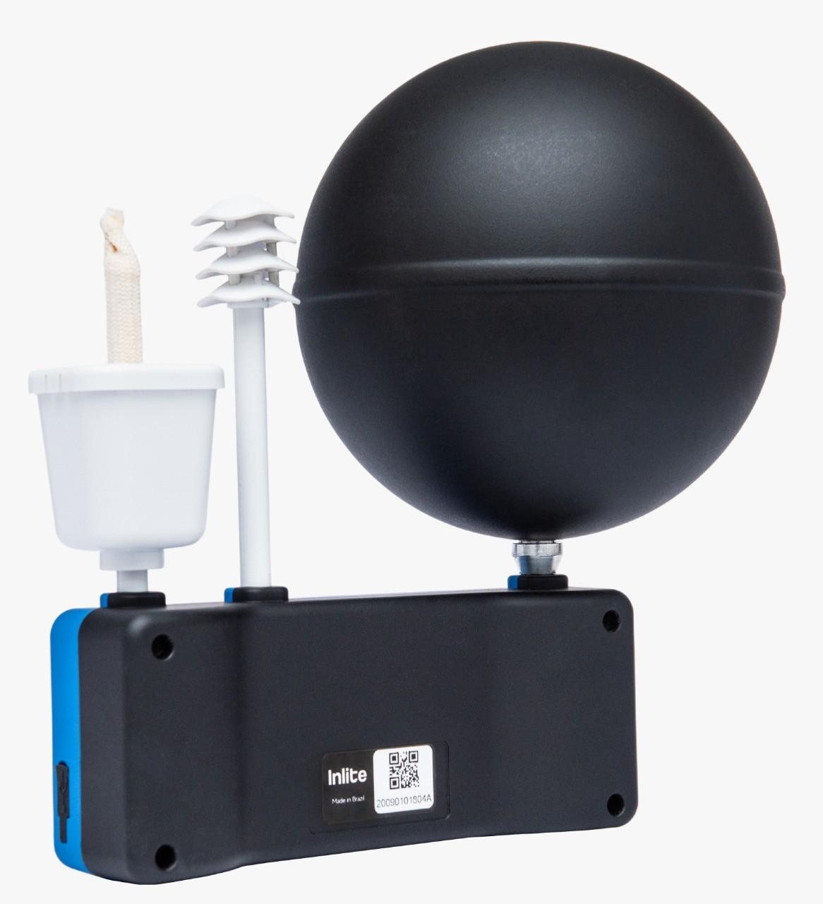 Itemp Termômetro de Globo digital com datalogger - IBUTG com certificado de calibração  - Instrubras Instrumentos de Medição