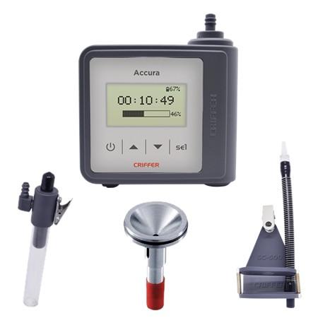 Kit Promocional Accura - Para análise de poeiras e fumos com suporte para cassete, kit para baixa vazão e ciclone de alumínio