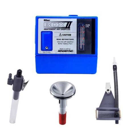 Kit Promocional - BDX-II Para análise de poeiras e fumos com suporte para cassete, kit para baixa vazão e ciclone de alumínio  - Com certificado de calibração