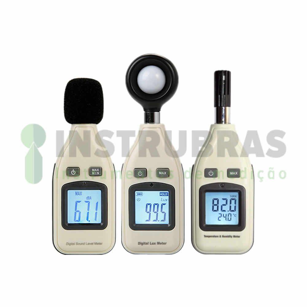 Kit promocional - Decibelímetro KR813 + Luxímetro KR812 + Termo higrômetro KR811