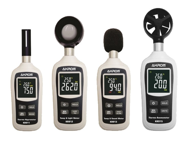 Kit Segurança do trabalho II - Decibelímetro + Luxímetro + Termo Anemômetro + Termo Higrômetro - Todos com certificado de calibração