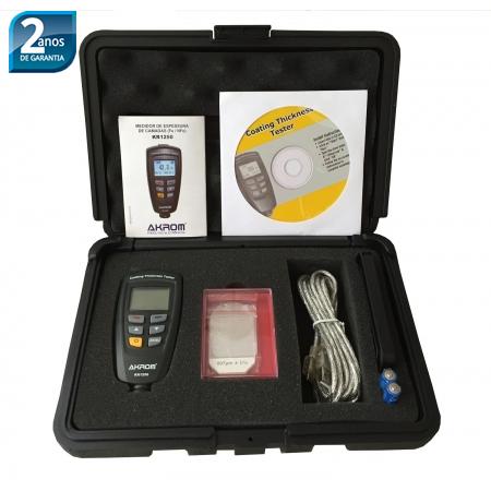 KR1250 medidor de espessura de camadas (Fe / NFe) com interface USB  - Instrubras Instrumentos de Medição