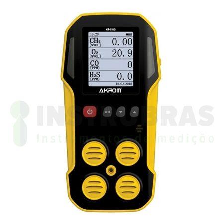 KR4100 Detector de 4 gases para espaço confinado com certificado de calibração