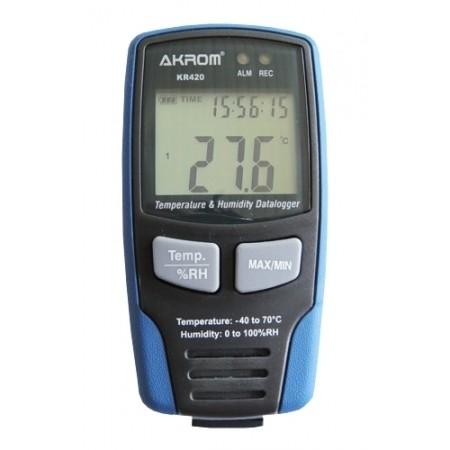 KR420 datalogger de temperatura e umidade com conexão USB