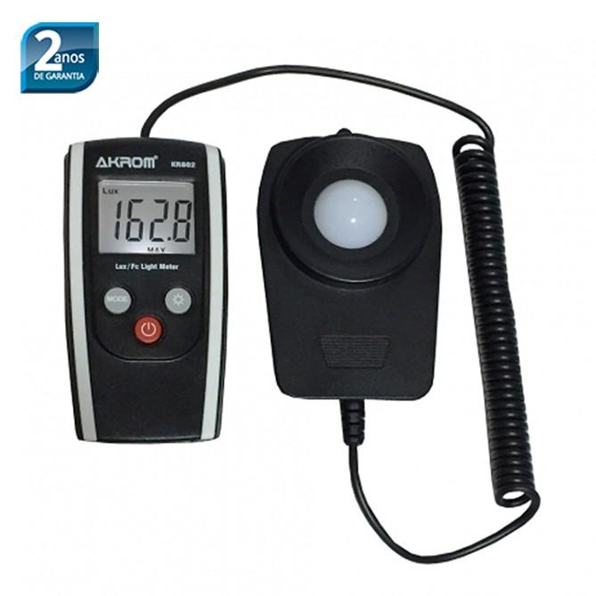 KR802 Luxímetro digital portátil com sensor externo