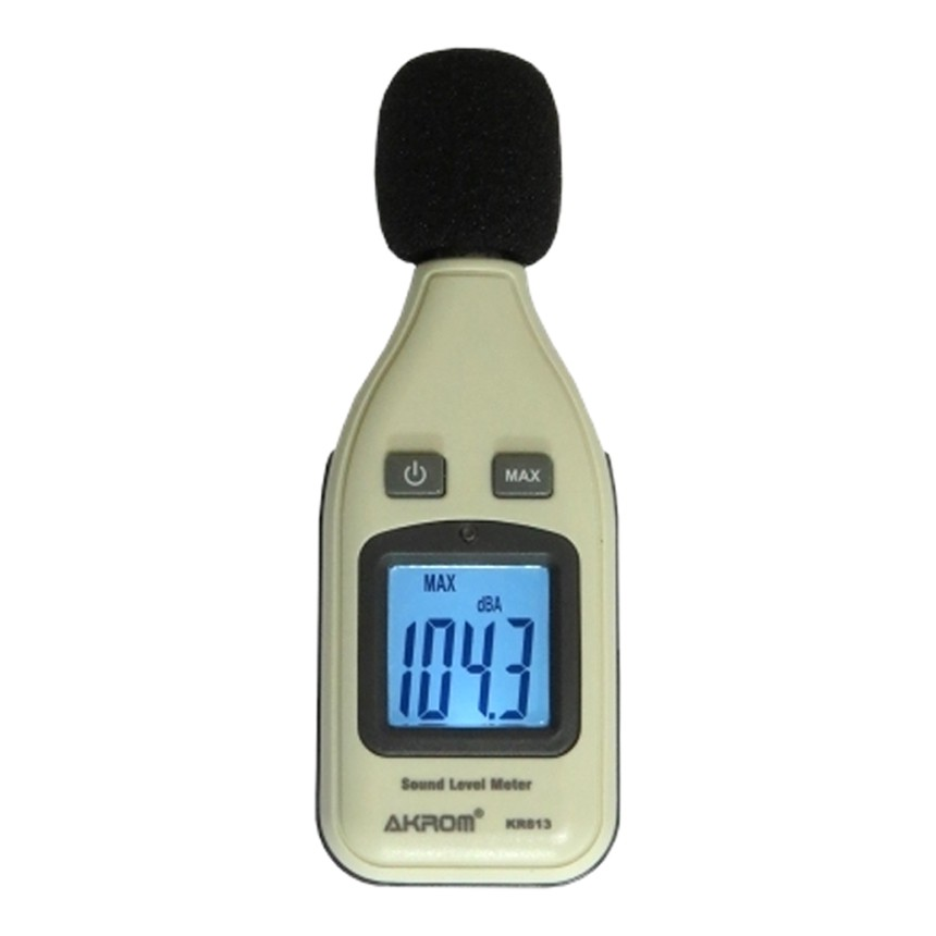 KR813 Medidor de nível sonoro digital portátil (Decibelímetro)
