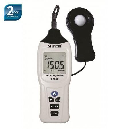 KR832 Luxímetro digital portátil com alcance de medição 400000 LUX