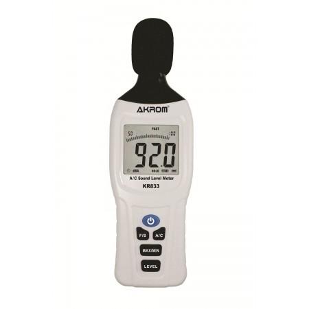 KR833 medidor de nível sonoro digital portátil (Decibelímetro)