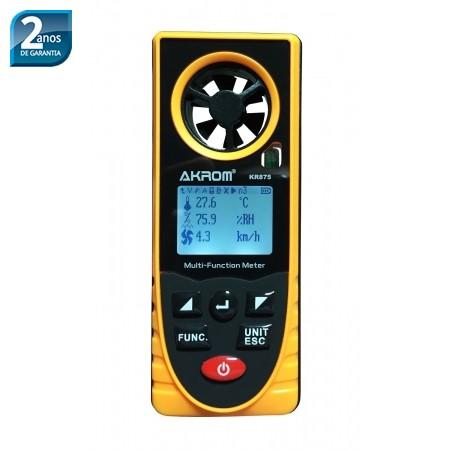 KR875 medidor ambiente multiparâmetros 8x1