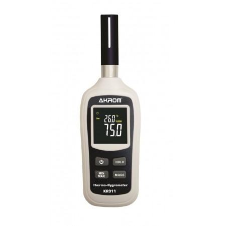 KR911 Termo-higrômetro digital com visor colorido