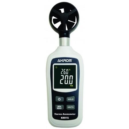KR915 Termo anemômetro digital portátil com visor colorido