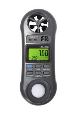 LM8000 Termo Higro Luxímetro Anemômetro digital - 4x1