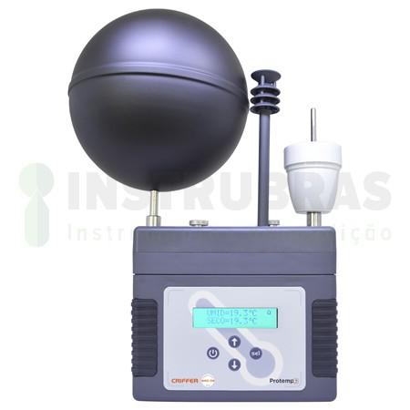 Locação de um Termômetro de globo digital (IBUTG) com certificado de calibração