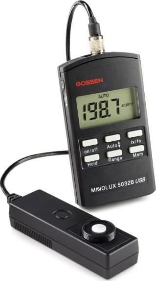 Luxímetro Gossen 5032C com USB, maleta de alumínio e certificado de calibração
