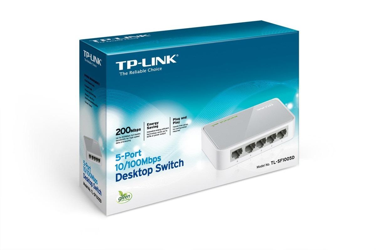 TP-LINK HUB SWITCH 05P TL-SF1005D 10/100 RJ45  - TECTECH BRASIL COMPUTERS