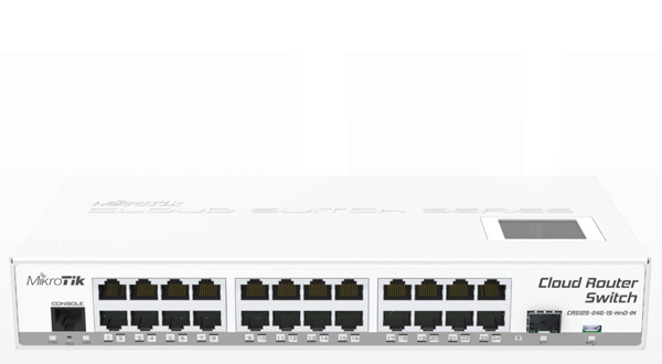 MIKROTIK CLOUD ROUTER SWITCH CRS125-24G-1S-IN  - TECTECH BRASIL COMPUTERS