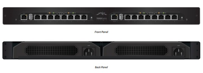 UBIQUITI TOUGHSWITCH TS-16-CARRIER POE (16 PORTAS)  - TECTECH BRASIL COMPUTERS