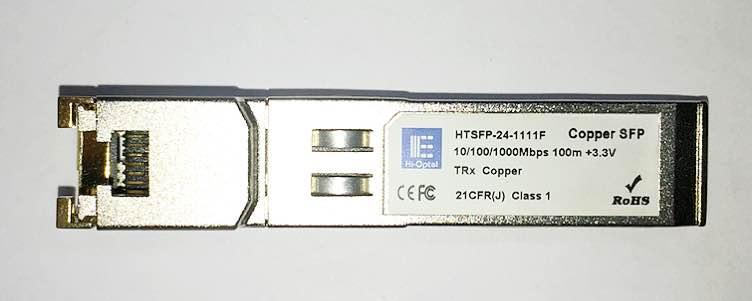 SFP 10/100/1000M COOPER RJ45 100M HTSFP-24-1111F  - TECTECH BRASIL COMPUTERS