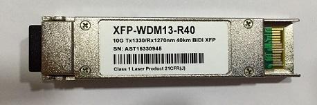 XFP 10G BIDI 40KM LC 1330-1270NM WDM13-R40  - TECTECH BRASIL COMPUTERS