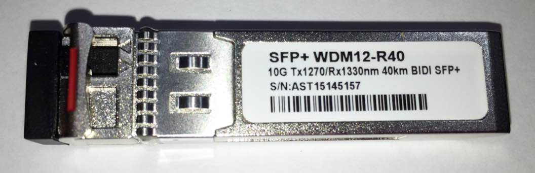 SFP+ 10G 40KM LC BIDI 1270-1330NM WDM12-R40  - TECTECH BRASIL COMPUTERS