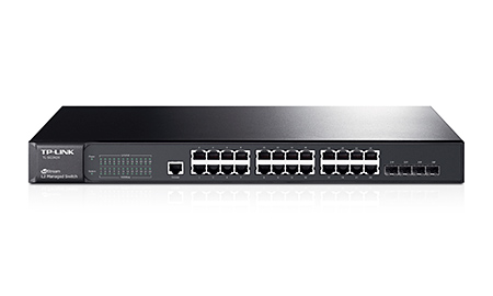 TP-LINK HUB SWITCH 24P T2600G-28TS TL-SG3424 JETSTREAM 4SFP  - TECTECH BRASIL COMPUTERS