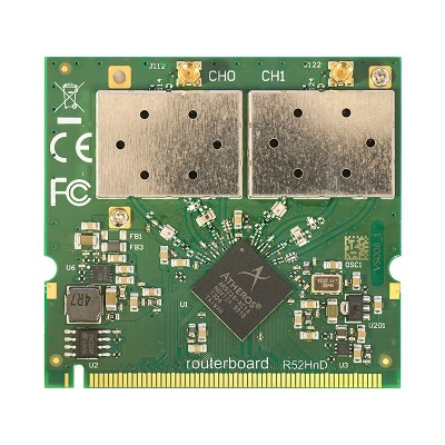 MIKROTIK- MINI PCI CARD R52HND 802.11A/B/G/N 400MW MMCX  - TECTECH BRASIL COMPUTERS