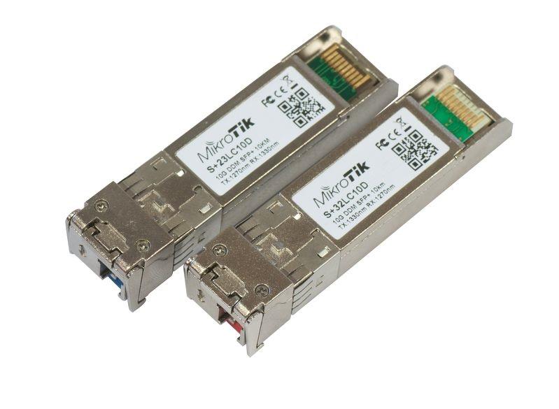 MIKROTIK SFP S+2332LC10D 10G 10KM PAR DE MÓDULOS  - TECTECH BRASIL COMPUTERS
