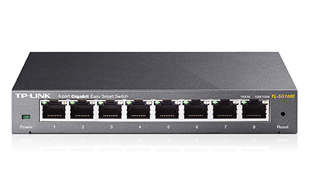 TP-LINK HUB SWITCH 08P TL-SG108E 10/100/1000 UNMANAGED PRO  - TECTECH BRASIL COMPUTERS