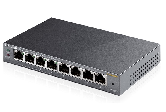 TP-LINK HUB SWITCH 08P TL-SG108PE 10/100/1000 POE EASY SMART  - TECTECH BRASIL COMPUTERS