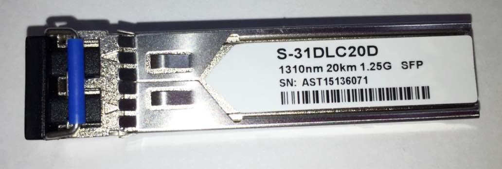 MIKROTIK SFP S-31DLC20D 1.25G SM 20KM 1310NM (MK OEM)  - TECTECH BRASIL COMPUTERS