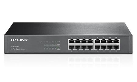 TP-LINK HUB SWITCH 16P TL-SG1016D 10/100/1000  - TECTECH BRASIL COMPUTERS