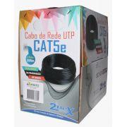 CABO DE REDE 2FLEX UTP CAT5 4P 100% COBRE