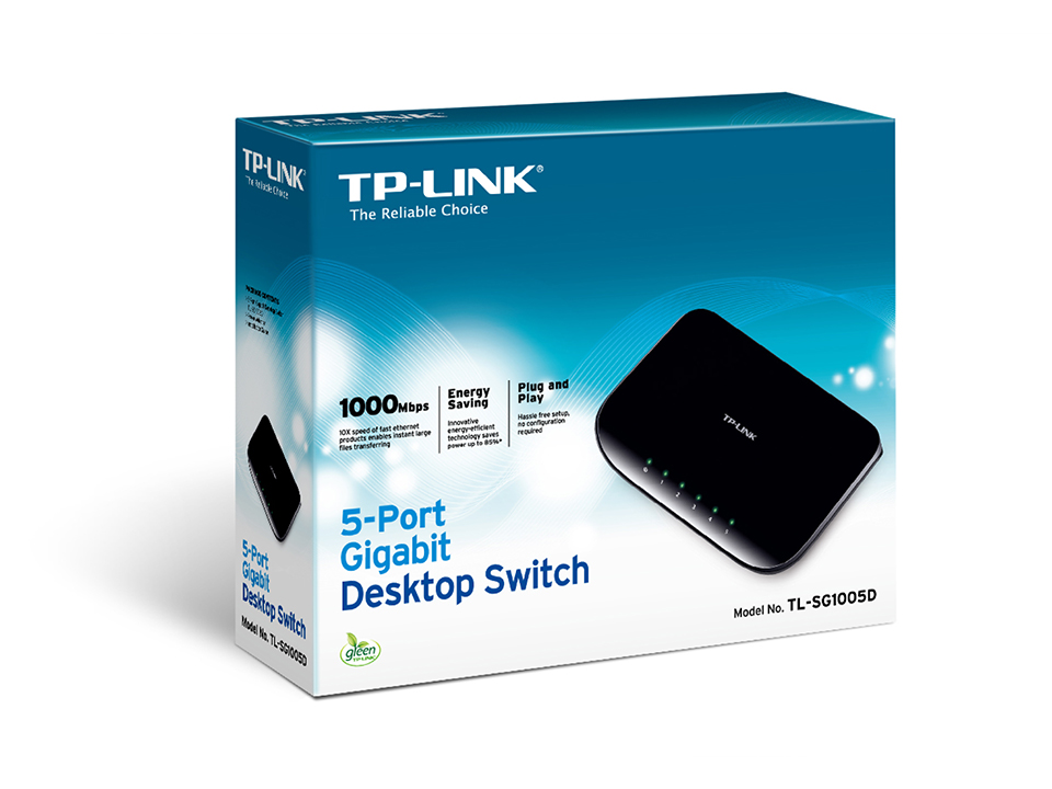 TP-LINK HUB SWITCH 05P TL-SG1005D 10/100/1000  - TECTECH BRASIL COMPUTERS